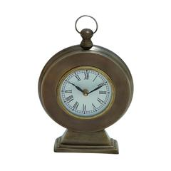 Benzara Round Shaped Table Clock In Traditional Design