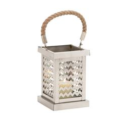 Elegant Square Shaped Stainless Steel Glass Lantern