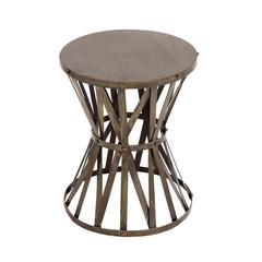 The Rustic Metal Accent Stool