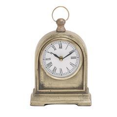 Benzara Creative Styled Aluminum Table Clock