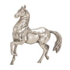 Benzara The Lifelike Aluminum Horse