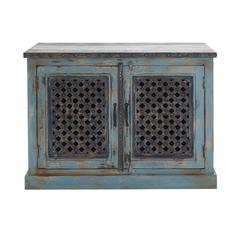 Benzara The Charming Wood Pierced Door Cabinet