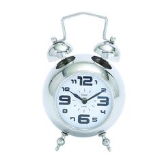Table Clock With Nickel Plated Finish