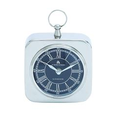 Nickel Plated Table Clock With Modern Detailing