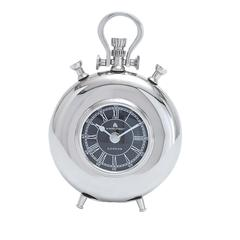 Nickel Plated Table Clock