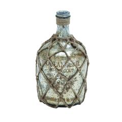 Glass Jute Bottle With Inner Layer Is Coated In Silver Color