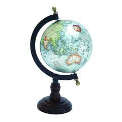 Beautiful Metal Wood Globe With Wooden Axis