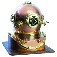 Benzara Brass Diving Helmet Compact Design For Smaller Spaces