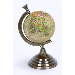 Benzara Aluminum Globe For Kids Pursuing Geography