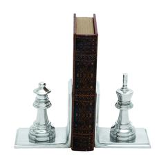 Metal Bookend Pair With Broad Stable Base