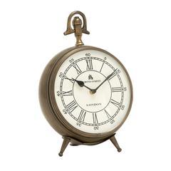 Benzara Alluringly Designed Aluminum Table Clock