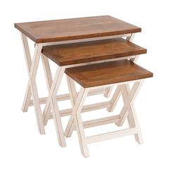 The Sweet Set Of 3 Wood Nesting Table