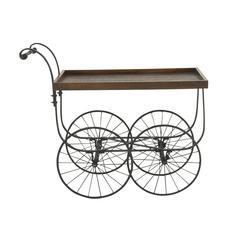 Outstanding Metal Wood Village Cart
