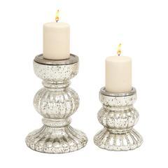 Benzara Mesmerizing Styled Glass Candle Holder