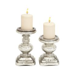 The Traditional Set Of 2 Glass Candle Holder