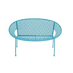 The Sky Metal Blue Garden Bench