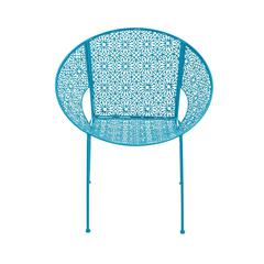 Benzara The Divine Metal Blue Chair