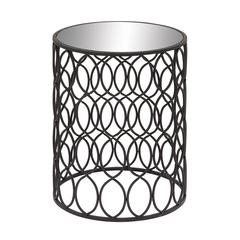 Benzara Beautiful Metal Mirror Accent Table