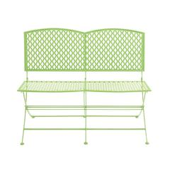 Benzara Marvelously Styled Metal Folding Bench