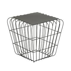 Benzara Charming Metal Side Table