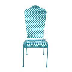 Benzara Astounding Metal Chair Blue