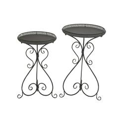 Fantastic Set Of Two Metal Plant Stand