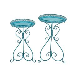 Gorgeous Set Of Two Metal Plant Stand