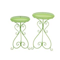 Alluring Set Of 2 Metal Plant Stand
