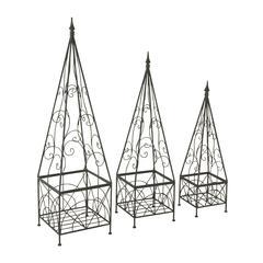 Alluring Set Of 3 Metal Trellis