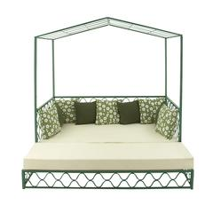 Benzara Modish Set Of Two Metal Fabric Outdoor