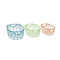 Marvelous Set Of 3 Metal Storage Basket