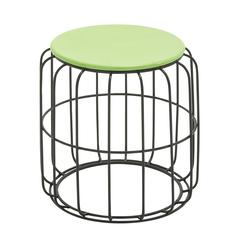 Stylish Metal Accent Table In Green And Black Color
