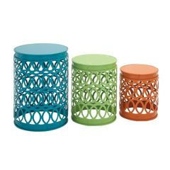 Wonderful Metal Accent Table Set Of 3