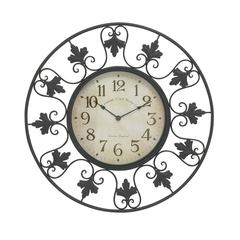 Benzara Decorative Metal Outdoor Wall Clock