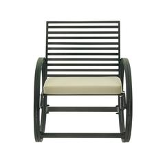 Benzara Alluring Metal Fabric Rocking Chair