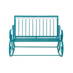 Comfortable Metal Rocking Bench