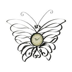 Gorgeous Metal Butterfly Wall Clock