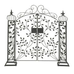 Benzara Captivating Metal Garden Gate