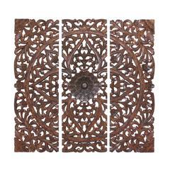 The Stunning Set Of 3 Wood Wall Panel