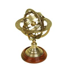 Brass Globe Armillary Unique Table Decor