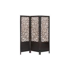 "Benzara Room Dividers Wood Screen 3 Panel 72""H, 60""W"