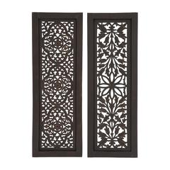 Benzara Beautiful Styled Wood Wall Panel 2 Assorted
