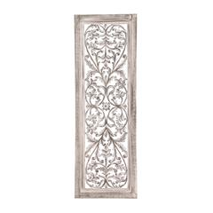 Benzara White Polished Attractive Wood Wall Panel