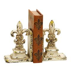 "Library Polystone Bookend Pair 11""H, 9""W"