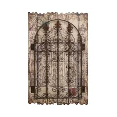 Benzara Rustic Style Wooden And Metal Wall Décor With Intricate Detailing