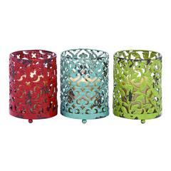 Benzara Candle Holder With Long Lasting Construction - Set Of 3