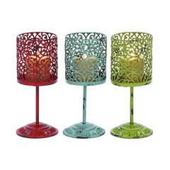 Benzara Beautiful Metal Candle Holder 3 Assorted With Unique Style