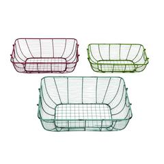 Elegantly Hand Crafted Metal Wire Basket Set Of Three