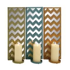 The Stunning Metal Mirror Candle Sconce 3 Assorted