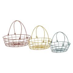 Fascinating Styled Colorful Metal Basket Set
